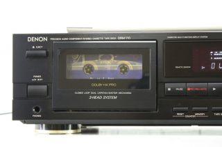 Denon DRM 710 Stereo Cassette Tape Deck