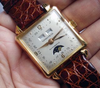 Co Triple Date Moonphase 18K Solid Pink Gold Automatic w Felsa Cal 693