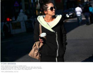 Neu Damen Winter Jacke Hooded Mantel Kapuzen Pullover Sweats schwarz