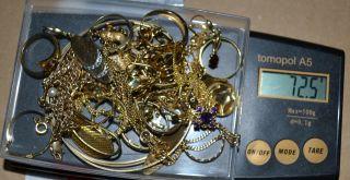 Echt Gold 333 & 585 Goldketten Goldringe Ohrringe Armreif 72,5 & 15,7
