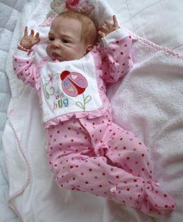 Ihr Wunschbaby Reborn Newborn Baby girl Olga Auer Jamie ausverkauft