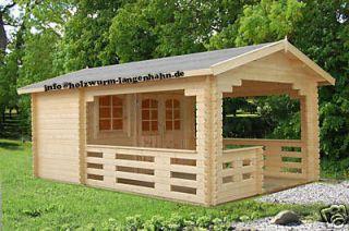 Gartenhaus Sylvi Blockhaus Gerätehaus 350x560 cm 44 mm stark