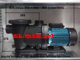 ELETTROPOMPA per PISCINA HP 1,5 kw 1,1 pompa Monofase Leporis RELAX