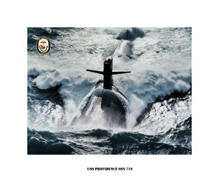 USS Providence SSN 719   Nuclear Attack Submarine , USN Navy Photo