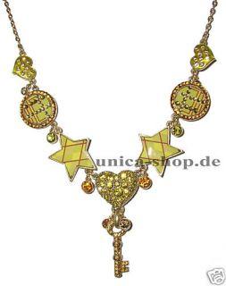 PILGRIM Halskette Stern Herz Schlüssel Key NEU 105€