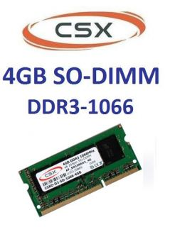 4GB DDR3 Notebook RAM Laptop 1066 Mhz SO DIMM 204 pin