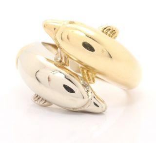 18kt 750 Damen Gold Ring Delphinring Delfin Delphin Brillant