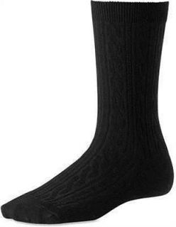 Cable Womens Wool Socks Casual Dress Black 10 711 SW711 S M L