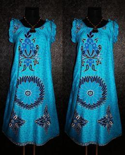 MANDALA TUNIKA KAFTAN KLEID 50 52 Hippie Vintage 60er 70er Abaya Dress