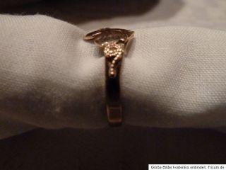 Ring Gold 585 Unikat Einzelstück Goldschmiedearbeit Rotgold Blumen