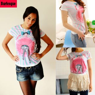 Shirt Lady Gaga stylisch Trash London 70er 80er Emo Rockabilly Size