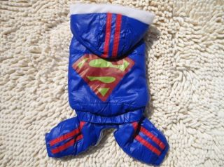 Superman Pet Dog Cat Clothes Apparel with trousersS XXL