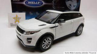 Land Rover Range Rover Evoque Weiß 124 Modellauto Welly