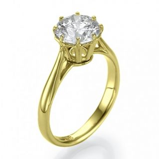 00 Carat D/SI 585 14kt Gold Solitar Brillantring Diamant Ring Wert