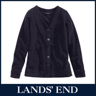 LANDS END Damen Cardigan, Pullover oder Troyer Fleece