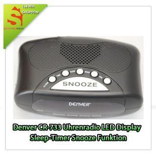 Denver CR 733 Uhrenradio UKW/MW LED Display Sleep Timer Snooze