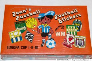 Panini JEAN'S FUSSBALL WM ARGENTINA 78 1978 – SEALED/OVP DISPLAY