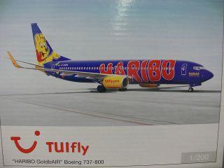 200 Herpa 554480 TUIfly Boeing 737 800 Haribo GoldbAir