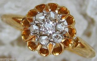Diamantringe 18kt 750 Gold Ring Antik Altschliff Diamant Ring Diamant