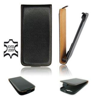 Samsung Galaxy Ace Plus S7500 Leder Hülle Etui Flip case Tasche Slim