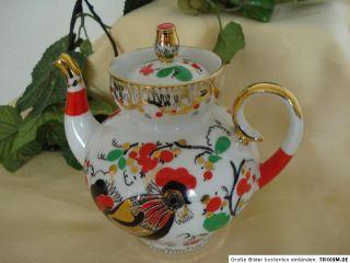Lomonosov Russische Porzellan eekanne Folk Rooser Made in Ussr