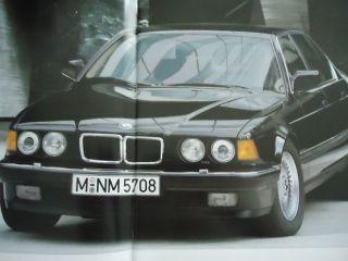 BMW 750i 750iL E32 Prospek brochure