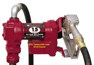 12V Fill Rite Dieselpumpe 56l/min mit Schlauch&Pistole