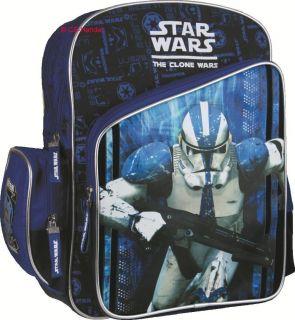 Star Wars Clone Wars Trooper Rucksack XL blau Tasche Schule 763
