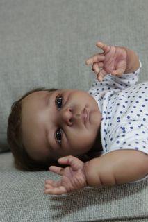 AA Ethnic Biracial Reborn baby Doll Amy Prototype by Olga Auer