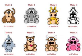 E294 Wandsticker Wandtattoo Sticker Aufkleber Kinder Wandbild Affe Kuh