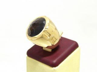 JETTE JOOP RING AUS 750er GOLD MIT RAUCHQUARZ 20,7g
