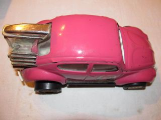 VW TONKA WTO 760 TOY CAR VOLKSWAGEN COLOUR PINK METAL BEATLE
