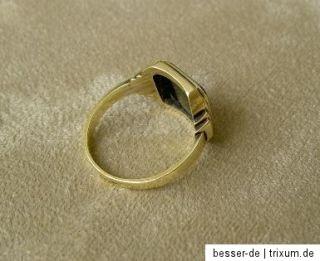 Art Deco Herren Siegelring 585 Gold um 1920 Goldring Lagenachat