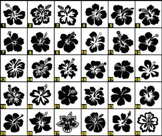 G105 Wandtattoo Hibiskus Blumen Aufkleber Wandaufkleber Sticker Küche
