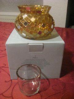 PARTYLITE Votivkerzenhalter Mosaic Gold P9911 Neu und OVP