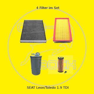 Filter Satz Inspektionspaket SEAT Leon/Toledo 1.9TDI AGR ALH AHU ASV