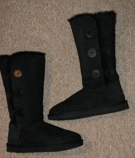 UGG Boots Stiefel Bailey Button Triplet,Schwarz, Gr 39.