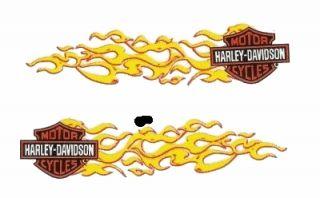 Harley Davidson Aufkleber Set 11x3 Flammen Bar & Shield Decal Helm