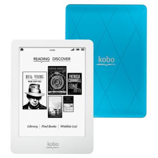 KOBO GLO E Book Reader, blau, 2Gb Speicher, eInk Pearl, 1024x758 Pixel