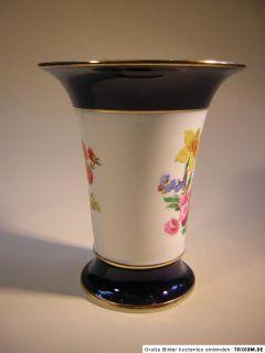 Meissen,Vase,Blumen,Kobalt,Gold,Knaufschwerter,um 1880,erste Wahl