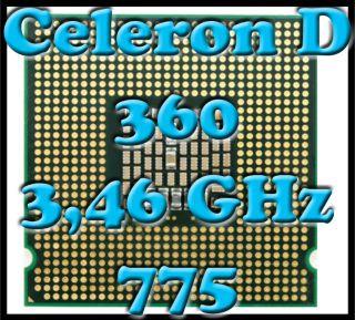 Intel Celeron D 360 3,46 GHz FSB 533 Sockel 775 CPU 32 Bit