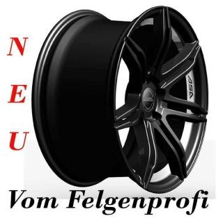ASA GT 2 Schwarz 8x17 Alufelgen + Bereifung 215/40 Opel Corsa D / S D