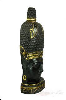 Großer 110 cm Buddha Figur Statue Holzbuddha Maske aus Holz Asien