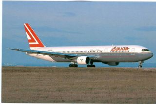 AIRLINE AVIATION POSTCARD   LAUDA AIR BOEING 767 300