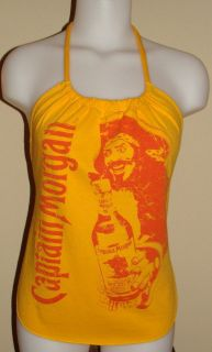 Party Girl Captain Morgan Rum Reconstructed Shirt Halter Top DiY