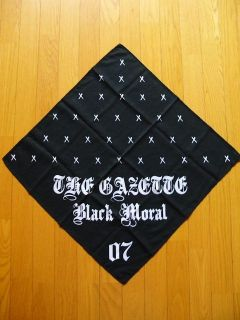 the GazettE STACKED RUBBISH Limited Bandana Scarf BLACK MORAL JAPAN