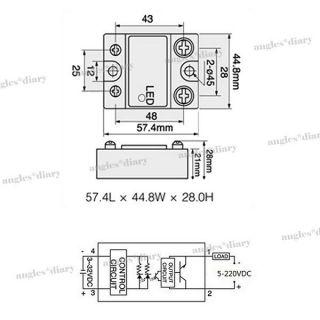 1x SSR Solid State Relais Halbleiterrelais 3 32V DC / 60A YHD2260D