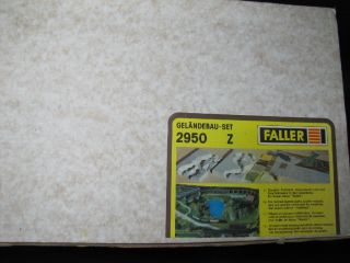 FALLER 2950 Spur Z Geländebau Set NEU&OVP H5 791