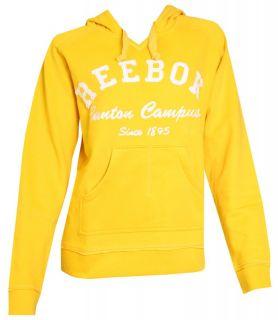 Reebok Hoody Kapuzen Sweatshirt Sweat rot gelb S M L