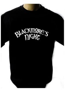 BLACKMORES NIGHT LOGO BLACK NEW T SHIRT FRUIT OF THE LOOM print by